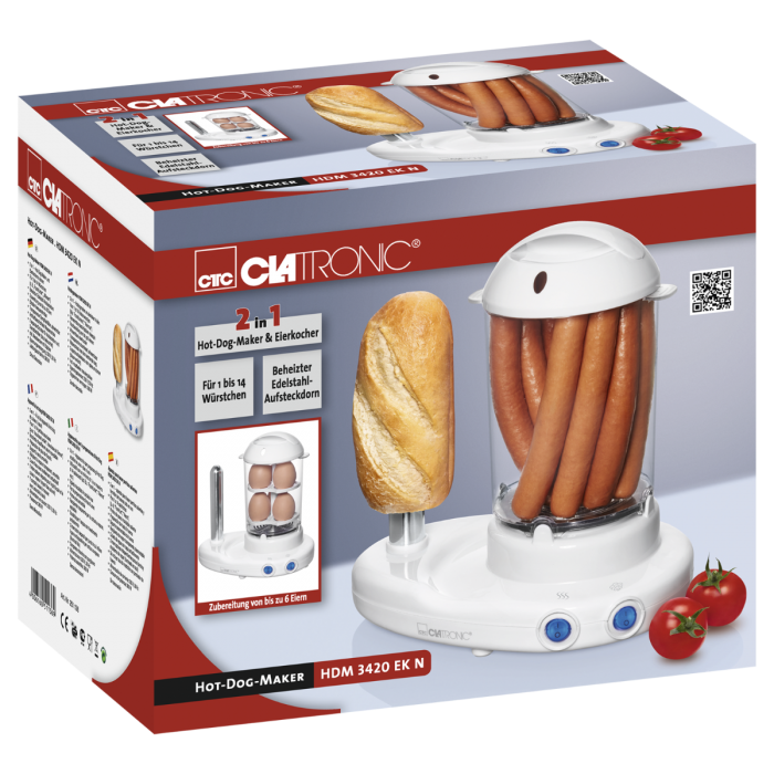 Clatronic Clatronic Hot-Dog-Maker HDM 3420 EK N weiß