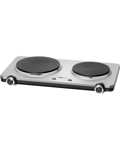 Clatronic Stainless steel double hotplate DKP 3668 E stainless steel/black