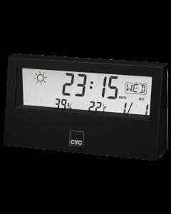 CTC Weather Station with Clock WSU 7022 black